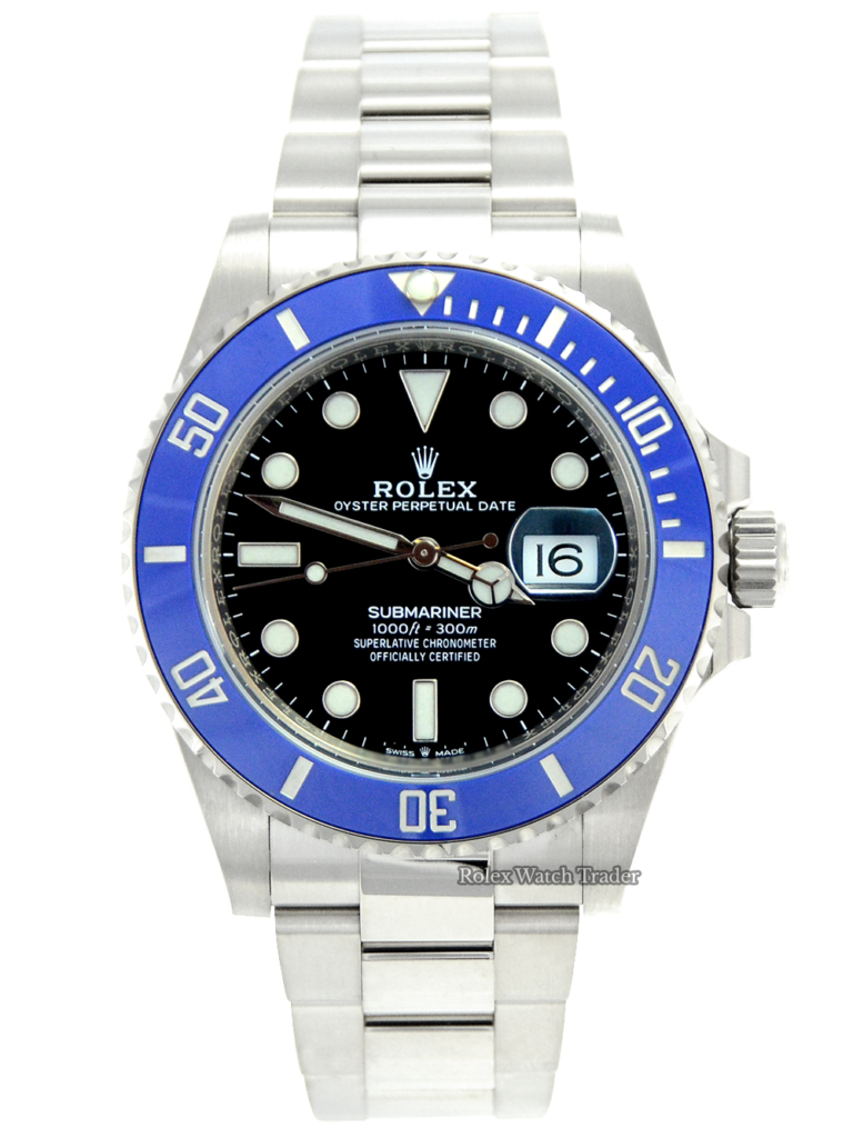 """Rolex Submariner Date 41mm 126619LB """"Smurf"""" White Gold For Sale Available Purchase Buy Online with Part Exchange or Direct Sale Manchester North West England UK Great Britain Buy Today Free Next Day Delivery Warranty Luxury Watch Watches"""