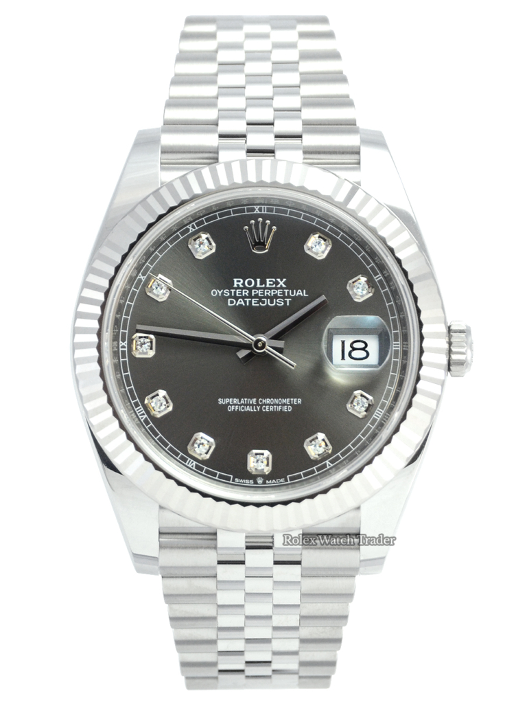 Rolex Datejust 126334 Rhodium Diamond Dot Dial 2021 Unworn For Sale Available Purchase Buy Online with Part Exchange or Direct Sale Manchester North West England UK Great Britain Buy Today Free Next Day Delivery Warranty Luxury Watch Watches